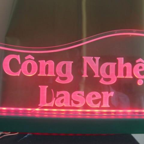 Cắt laser mica - Cắt chữ mica mẫu 5