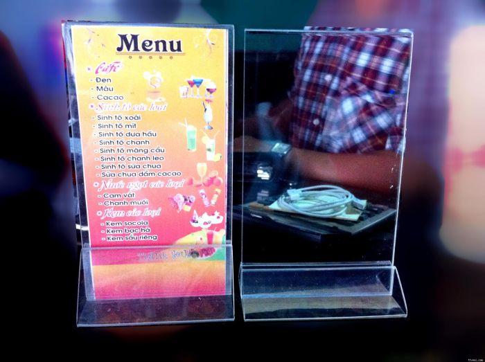 Khung thực đơn menu mica